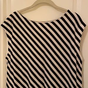GAP Navy/White Striped Column Dress